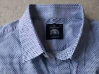 Saville Row Company shirt, blue and white pattern, size large