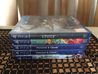 5X PLAYSTATION 4 GAMES - ALL BRAND NEW & SEALED FOR PS4