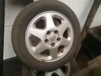 "Vauxhall 15"" 5 stud alloys and good tyres"