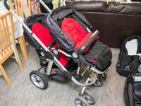 iCandy Pear Twin Stroller Plus Extras