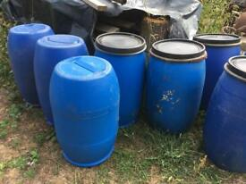 NOW SOLD Plastic drums - large quantity available for collection!