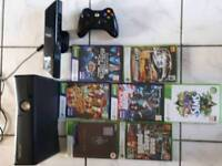 Xbox 360 plus Kinect and 7 games