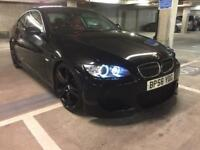 "2007 bmw 325 i se autovogue kitted 1 off black on red leather 20"" black wheels quad exhaust hids wow"
