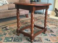 Coffee Table Solid Wooden Oval with Barley Twist Legs H22in/56cmW21.5in/55cmL24in/61cm