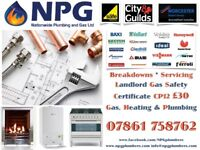 Landlord Gas safety Certificate £30 CP12*Gas Engineers*Breakdowns*Repairs*White Goods*24/7 CALLOUT*
