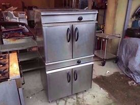 COMMERCIAL TWIN DECK CATERING OVEN KITCHEN RESTAURANT TAKEAWAY SHOP DINER FASTFOOD CANTEEN CAFE PUB