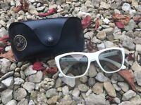 white Ray ban sunglasses