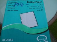 Tractor feed printer paper