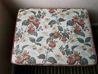 Floral tapestry ottoman