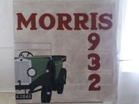MORRIS 1932 HAND PAINTED WOODEN SIGN