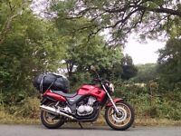 Honda CB500 Y2, Absolutely bomb proof bike, very reliable and low insurance bracket.