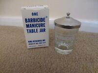 Barbacide jar