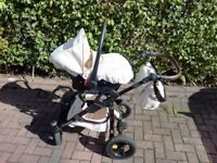 Captiva Mohican 3 in 1 pushchair baby pram, carry cot, car seat