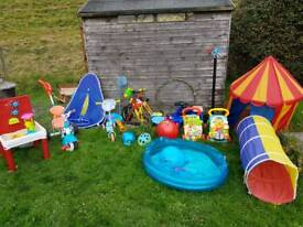 Collection of children outdoor toys