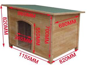 Brand New X-LARGE WOODEN DOG HOUSE TIMBER DOG KENNEL CABIN HOUSE Auburn Auburn Area Preview