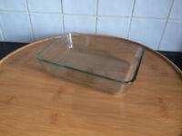 Pyrex Glass rectangular Roaster high resistance