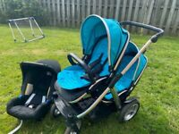 Oyster max double pram and car seat