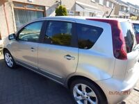 2010 Nissan Note N-Tec Lovely condition inside and out with Sat Nav and Tow bar with electrics