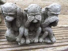 Garden ornament - 3 monkeys