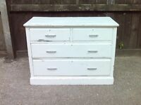 Vintage Solid Pine 4 Drawer Chest of drawers