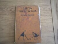 META THE NEW GIRL ETHEL TALBOT 1930 OLD BOOK VINTAGE BOOK