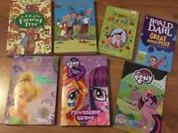 Girls books Enid blighton, famous five, my little pony, tinkerbell and Roald Dahl