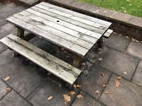 Children's solid wood picnic table