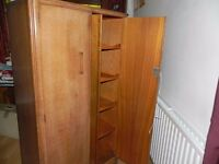 1920's-1930's pair of wardrobes ladies and Gentleman's
