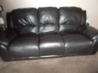 3 seater leather recliner sofa and matching recliner chair