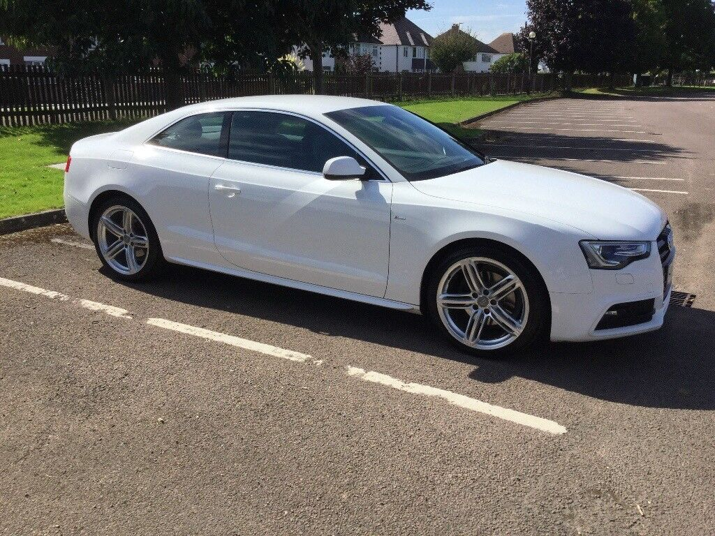 audi a5 coupe tdi s-line diesel 2 door white | in gloucester