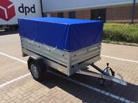 car box trailer brenderup 1205 XL + mesh side and cover