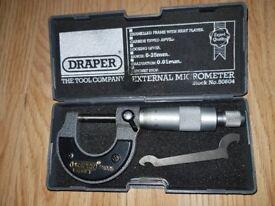 Draper External Micrometer