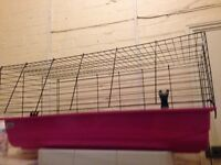 Medium pink rabbit cage&rat cage
