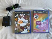 PlayStation 2 eye toy camera and games