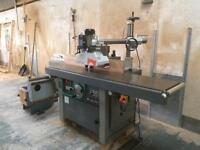 Heavy duty spindle moulder with side mounted tenoning table reduced priced to sell !!£4500