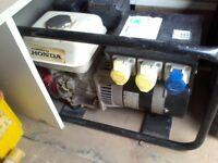 HONDA PORTABLE GENERATOR 3.7 KVA 110/240V VERY GOOD CONDITION .BACK UP GENERATOR LITTLE USE