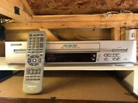 Panasonic super drive vhs recorder video plus with remote