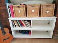 2 X White stain Ikea wall shelves