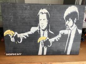 Banksy Pulp Fiction canvas print