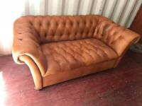 Chesterfield John Lewis leather sofa possible delivery