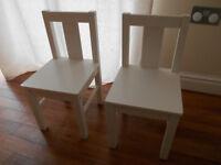 2 Ikea children's chairs