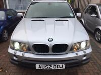 BMW X5 3.0D Sport DIESEL (2002) SILVER AUTOMATIC 5DR AIR CON XENON LEATHER