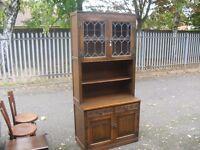Lovely Oak Genuine Old Charm Tall Storage Bookcase Unit