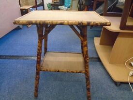 bamboo table.