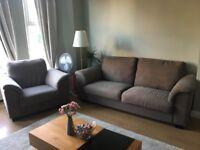 IKEA TIDAFORS large grey 3 seat sofa and armchair