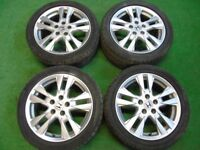 "HONDA CIVIC TYPE R S, ACCORD, CR-V, FR-V, S2000, STREAM 17"" ALLOY WHEELS SILVER"