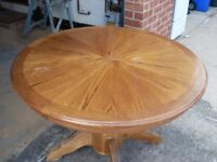 Genuine Wood Round Dining Table