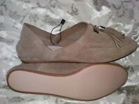 Suede Flats from Zara size 4