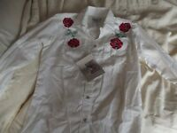 line dance blouses 2 size 10 New with tags