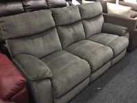 New/Ex Display ScS 3 Seater Grey High Back Sofa